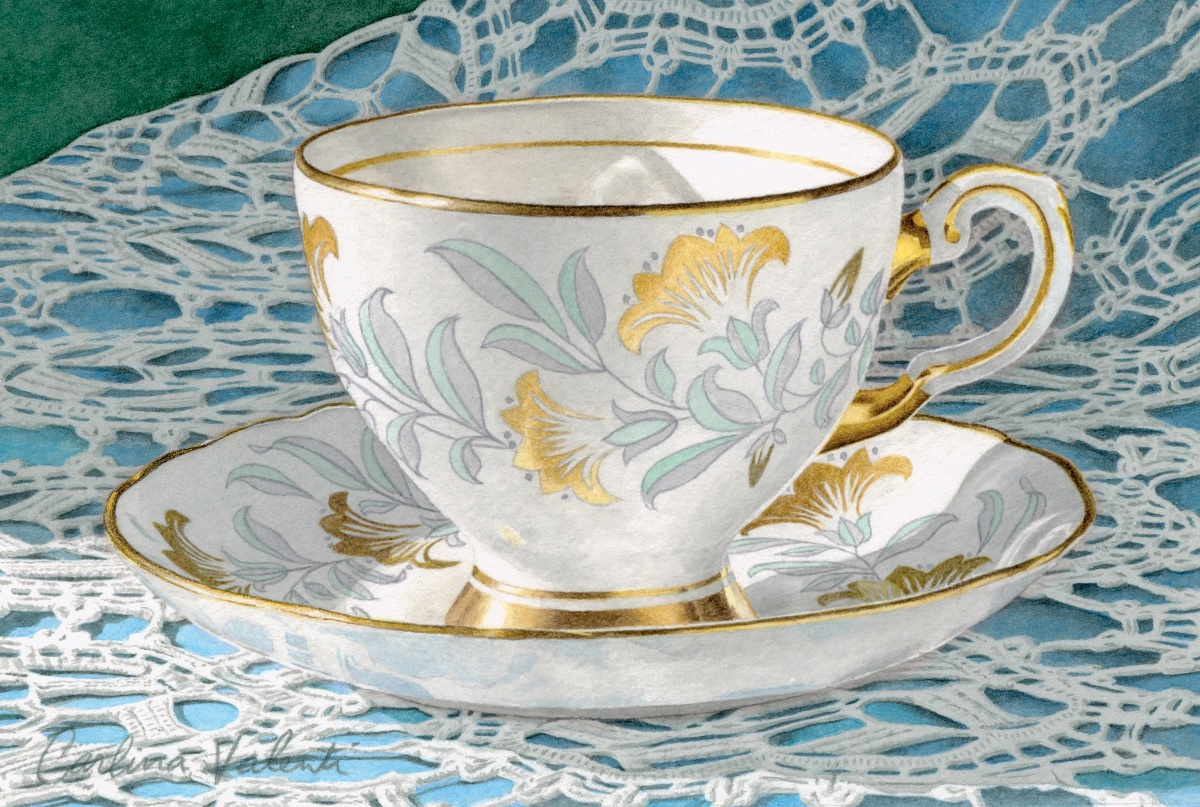 Teacup with Blue Lace